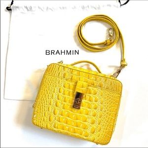 Brahmin Evie Sunflower Melbourne Leather Handbag